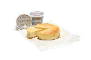 Cheesecake vasca salada con Quescrem Profesional y Rulo de Cabra